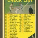 1961 Topps baseball set # 437B Series 6 Checklist unmarked