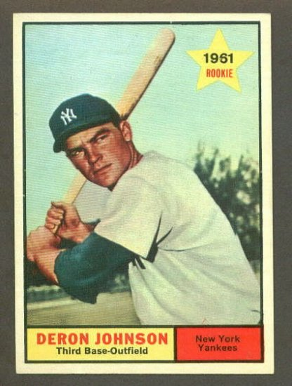 1961 Topps baseball set # 68 Deron Johnson New York Yankees