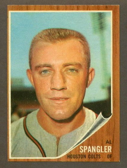 1962 Topps baseball set # 556 Al Spangler Houston Colts