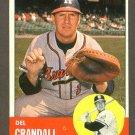 1963 Topps baseball set # 460 Del Crandall Milwaukee Braves