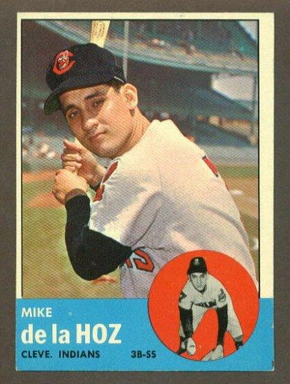 1963 Topps baseball set # 561 Mike De La Hoz Cleveland Indians