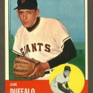 1963 Topps baseball set # 567 Jim Duffalo San Francisco Giants