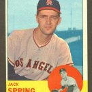 1963 Topps baseball set # 572 Jack Spring Los Angeles Angels