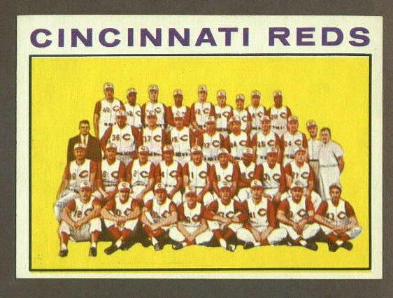 1964 Topps baseball set # 403 Cincinnati Reds team card