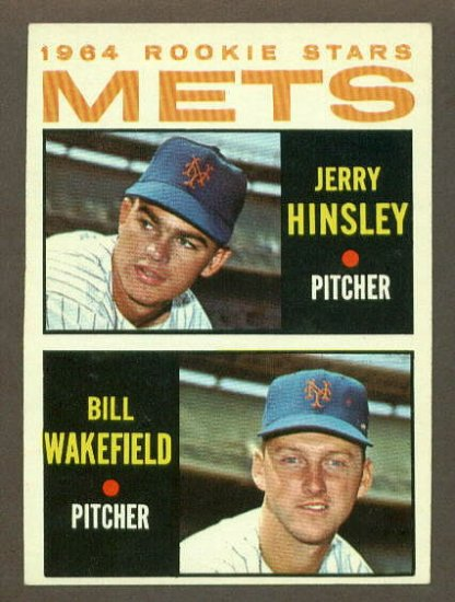 1964 Topps baseball set # 576 New York Mets Rookie Stars