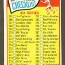 1965 Topps baseball set # 273 Series 4 Checklist unmarked