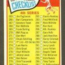 1965 Topps baseball set # 273 Series 4 Checklist unmarked
