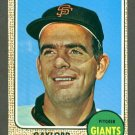 1968 Topps baseball set # 85 Gaylord Perry HOF San Francisco Giants