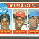 1969 Topps baseball set # 10 N.L. Pitching Ldrs. Marichal Gibson & Jenkins