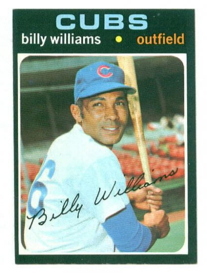 1971 Topps baseball set # 350 Billy Willams HOF Chicago Cubs