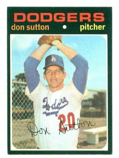 1971 Topps baseball set # 361 Don Sutton HOF Los Angeles Dodgers