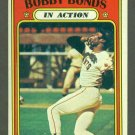 1972 Topps baseball set # 712 Bobby Bonds In Action San Francisco Giants