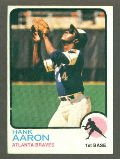 1973 Topps baseball set # 100 Hank Aaron HOF Atlanta Braves