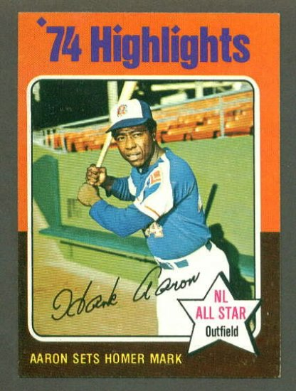 1975 Topps baseball set # 1 Hank Aaron Record Breaker HOF Atlanta Braves