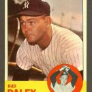 1963 Topps baseball set # 38 Bud Daley New York Yankees