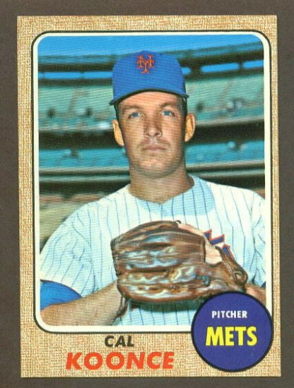 1968 Topps baseball set # 486 Cal Koonce New York Mets