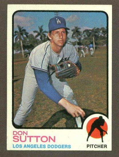 1973 Topps baseball set # 10 Don Sutton HOF Los Angeles Dodgers