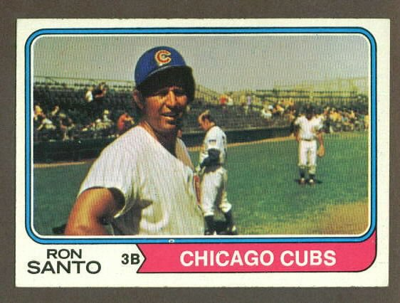 1974 Topps baseball set # 270 Ron Santo Chicago Cubs