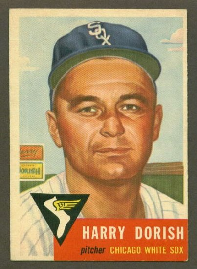 1953 Topps baseball set # 145 Harry Dorish Chicago White Sox