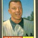 1961 Topps baseball set # 116 Joe DeMaestri New York Yankees