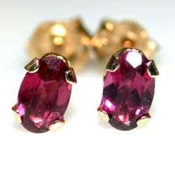 10K White Gold .90ct Rhodolite Garnet Earrings