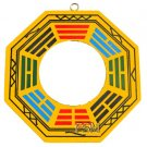 "Flat / True Glass Bagua Mirror~4"" Wooden Handpainted (B)"