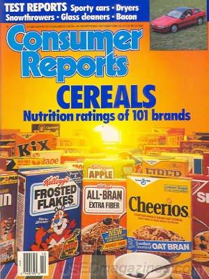 Consumer Reports Magazine - October 1989