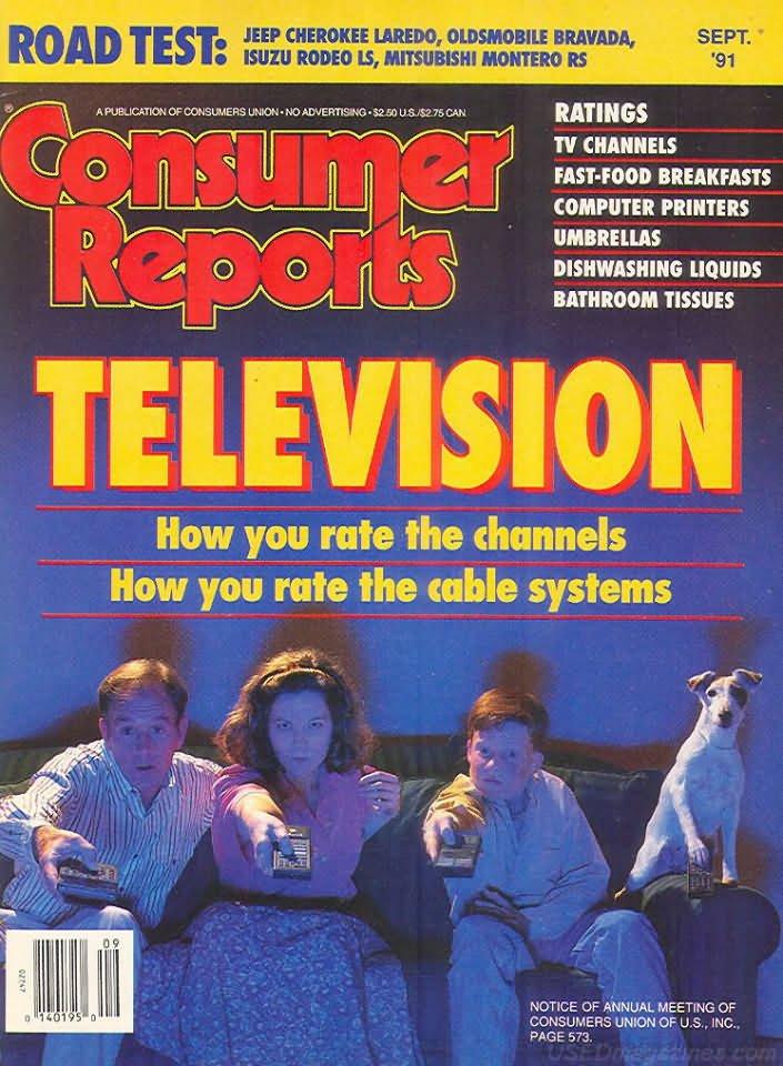 Consumer Reports Magazine - September 1991
