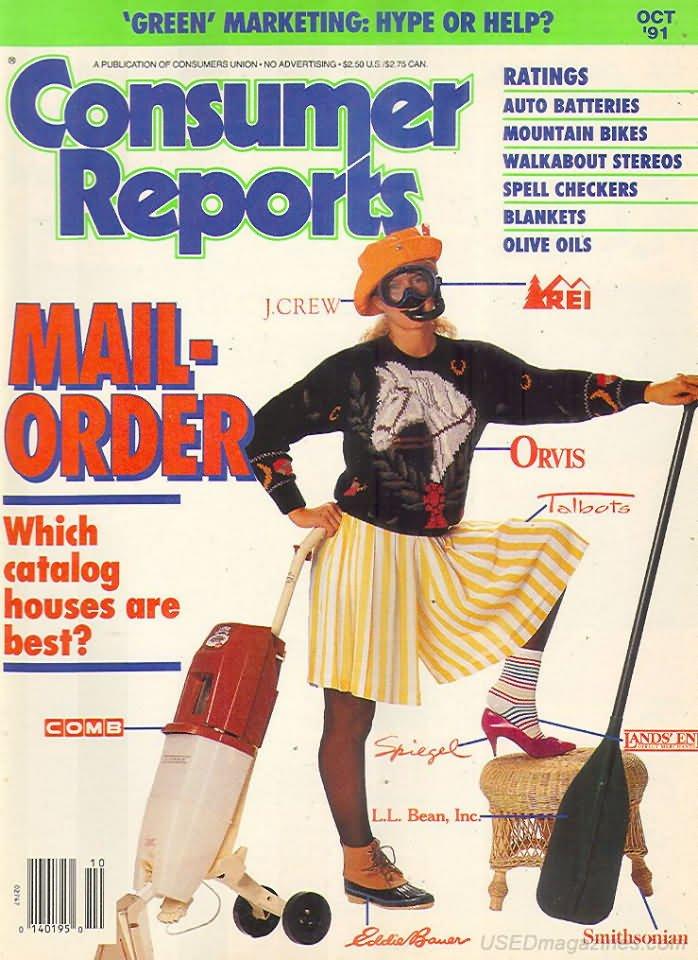 Consumer Reports Magazine - October 1991