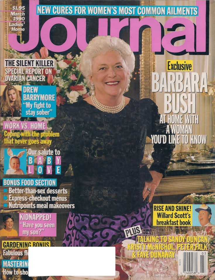 Ladies Home Journal Magazine - March 1990 - Barbara Bush