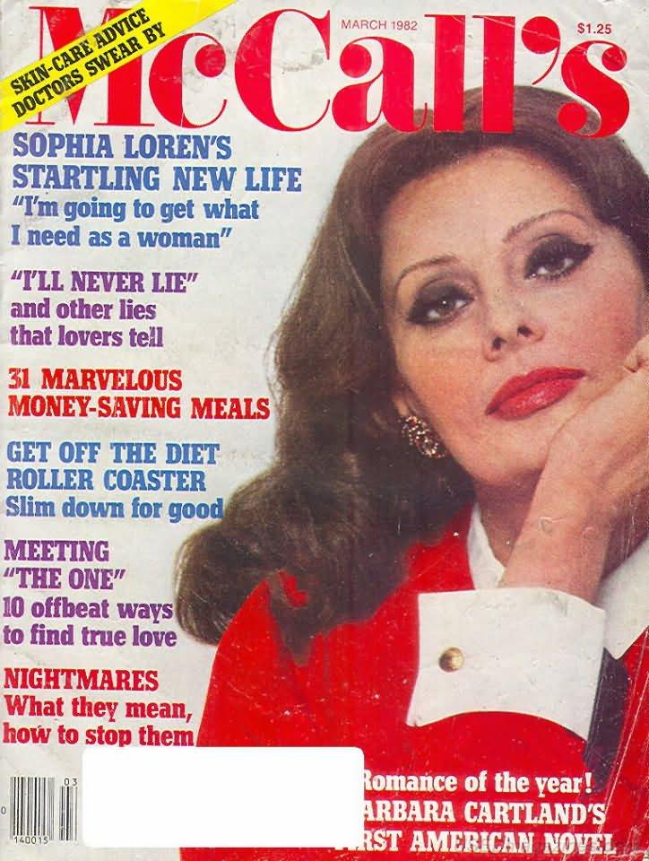 McCalls Magazine - March 1982 - Sophia Loren