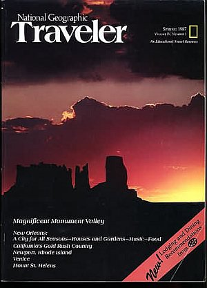 National Geographic Traveler Magazine - Spring 1987 - Magnificent Monument Valley