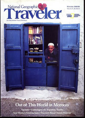 National Geographic Traveler Magazine - Winter 1988 / 1989 - Morocco