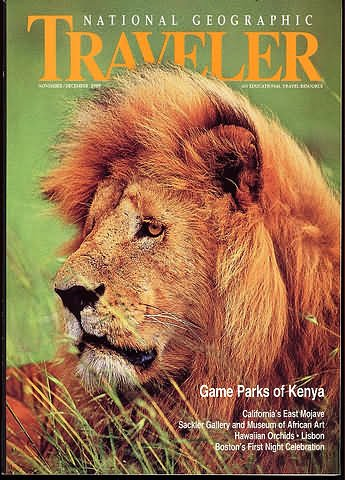 National Geographic Traveler Magazine - November / December 1989 - Kenya