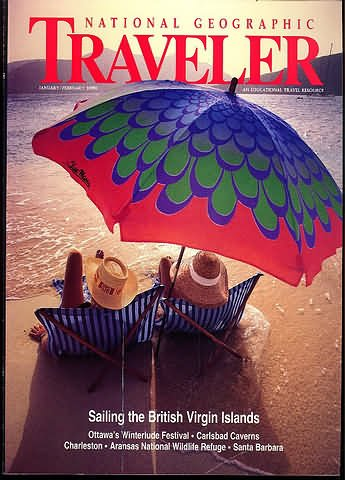 National Geographic Traveler Magazine - January / February 1990 - British Virgin Islands