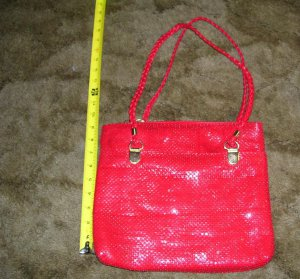 Vintage Marlo Red Evening Handbag / Shoulder Bag