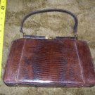 Vintage Brown Animal Skin Handbag