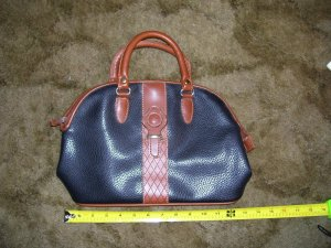 Black & Brown Dolce Vita Leather Handbag