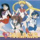 Sailor Moon Action Flipz Sticker #10 - The Sailor Scouts