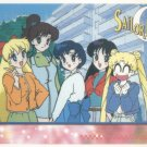 Sailor Moon Artbox/Second Series Sticker #56 - Mina, Lita, Amy. Raye and Serena
