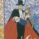 Sailor Moon Artbox/Second Series Foil Sticker #S11 - Tuxedo Mask and Sailor Moon