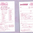 Sailor Moon Carddass EX 1 Checklist Card