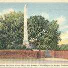 Grave of Mary Ball Washington in Fredericksburg, Virginia Vintage Postcard