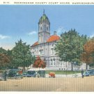 Rockingham County Courthouse in Harrisonburg, Virginia Vintage Postcard