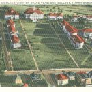 Airplane View of State Teachers College in Harrisonburg, Virginia Vintage Postcard