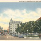 Main Street in Harrisonburg, Virginia Vintage Postcard