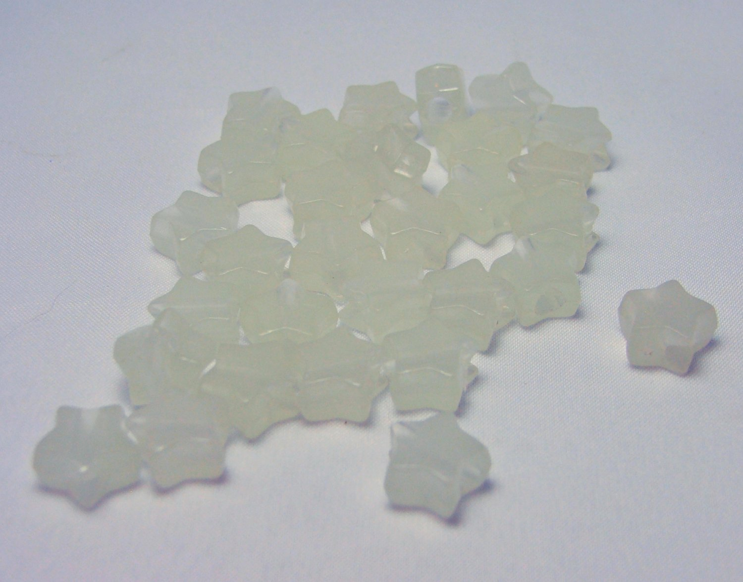 Glow in the Dark Star Shaped Beads - 0.5 oz Lot