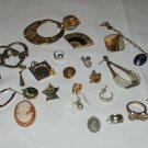 Junk Drawer Jewelry Parts Lot, Earrings, Rings, and Pins