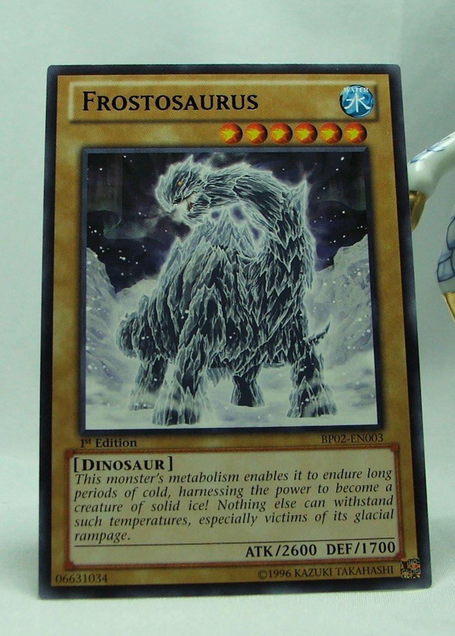 YuGiOh Battle Pack 2 War of the Giants First Edition BP02-EN003 Frostosaurus