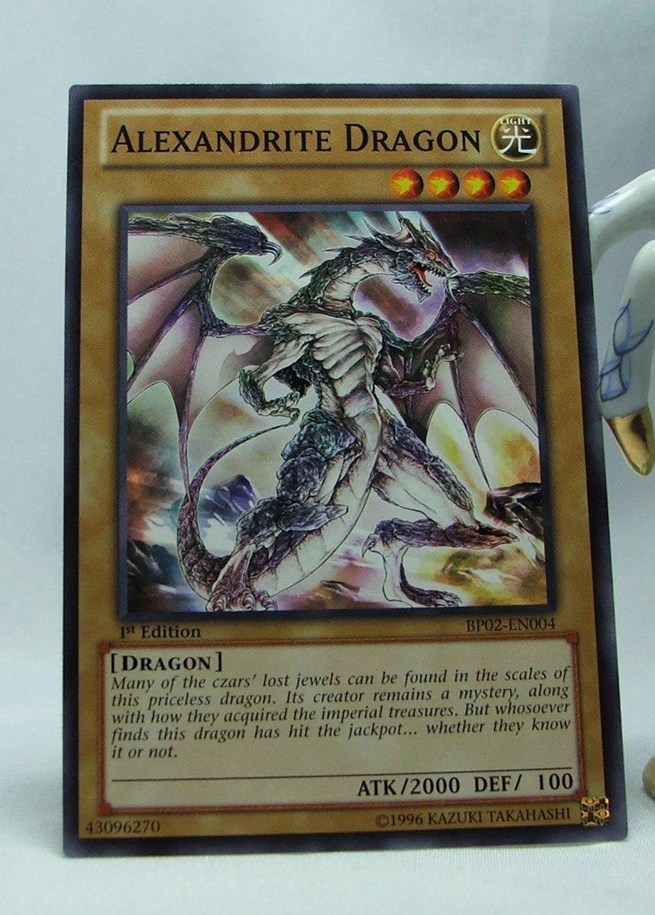 YuGiOh Battle Pack 2 War of the Giants First Edition BP02-EN004 Alexandrite Dragon